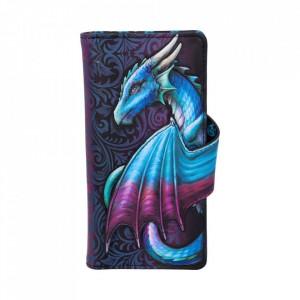 Portofel lung embosat dragon Ia-ti zborul (albastru)