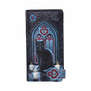 Portofel lung embosat pisica Cercul Sacru - Lisa Parker - 19 cm