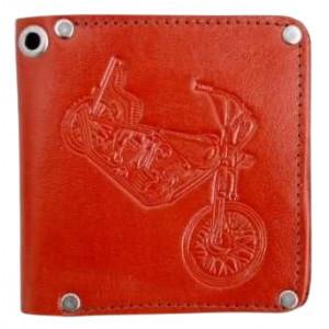 Portofel piele naturala Motocicleta 11x11.5 cm