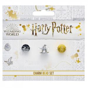 Set charmuri placate argint licenta Harry Potter Castelul Hogwarts , Palaria vrajitorului si Clepsidra timpului