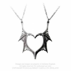 Set pandantive pentru parteneri aripi de dragon Darkling Heart