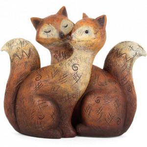 Set statuete Familia de Vulpi - Imbratisare
