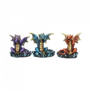 Set statuete Trei dragoni intelepti