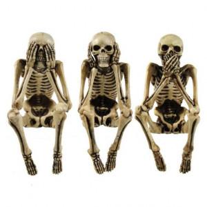 Set statuete Trei schelete intelepte 10 cm