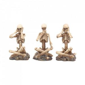Set statuete Trei schelete intelepte 8.5 cm