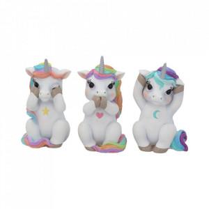 Set statuete Trei unicorni intelepti 9.5 cm