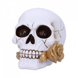 Statueta craniu cu trandafir Floral Fate 18cm