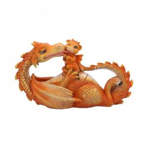 Statueta dragon cu pui Cel mai dulce moment.