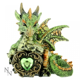 Statueta dragon Malachite 13 cm