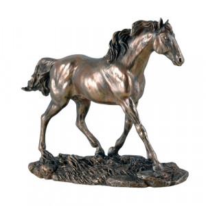 Statueta finisaj bronz Cal 20cm