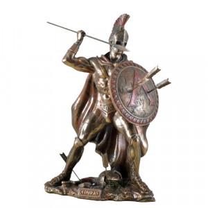 Statueta finisaj bronz Leonidas - eroul spartan 26cm