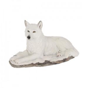 Statueta lup alb Umbra alba 22cm