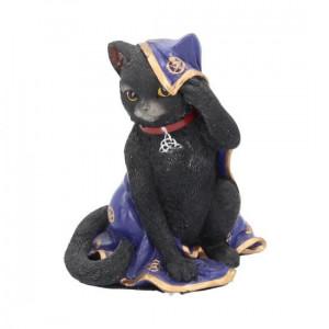 Statueta pisicuta neagra Jinx 11 cm
