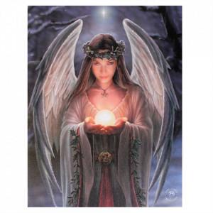 Tablou canvas, Yule Angel, 19x25cm - Anne Stokes