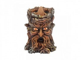 Aged Oak Backflow Incense Burner 8.5cm