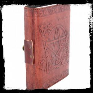 Agendă / Jurnal cu coperți din piele și încuietoare Wicca