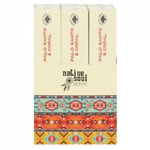 Betisoare de tamaie parfumate Native Soul - Copal si palo santo 23cm