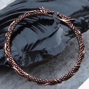 Brățară vikingă Capete de dragoni - bronz
