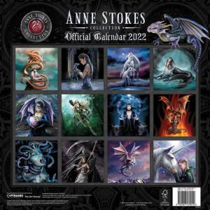 Calendar 2022 de perete Anne Stokes - arta Fantasy