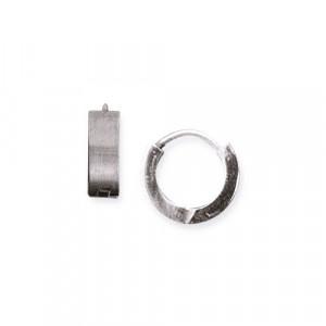 Cercei otel inoxidabil Tortite - argintiu  SO111