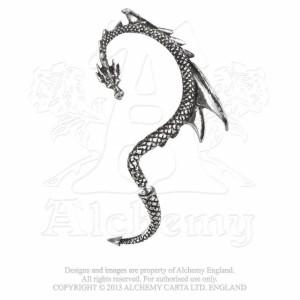 Cercel tip ear cuff Șoapta dragonului -pentru urechea stângă