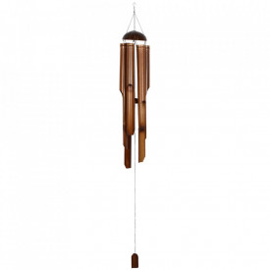 Clopotel de vant din trunchiuri de bambus 164 cm