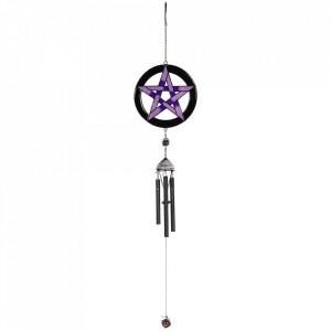 Clopotel de vant gotic Pentagrama Violet