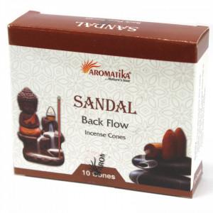 Conuri parfumate backflow Aromatika - Santal