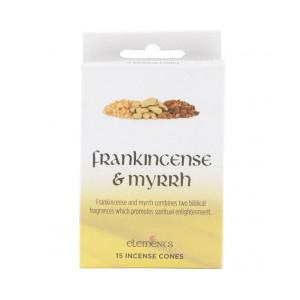 Conuri parfumate Elements - Frankincens si Mir