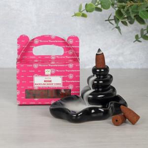 Conuri tamaie parfumata Backflow Satya - trandafir
