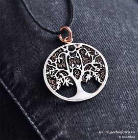 "etNox-pendant ""Tree of Life"" bronze partially silver plated"