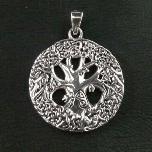 Pandantiv argint Arborele Vietii cu nod celtic
