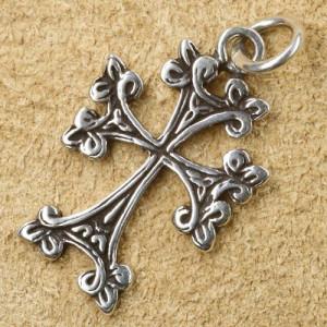 Pandantiv argint Cruce Gotica