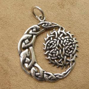 Pandantiv celtic argint Luna si Soare