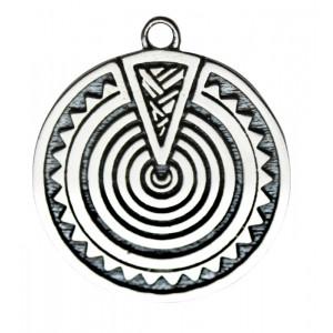 Pandantiv placat argint zodiac celtic Heulsaf Yr Haf 09 June-01 July