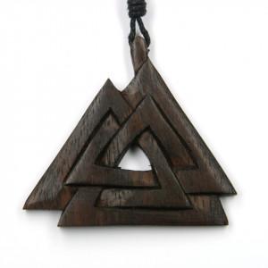 Pandantiv viking lemn Nodul Wotan