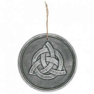 Placheta pentru perete din teracota Triquetra argintiu
