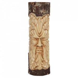 Placheta sculptata din lemn Green Man 50 cm