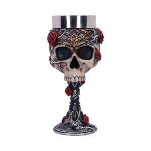 Pocal craniu Trandafiri Gotici 18 cm