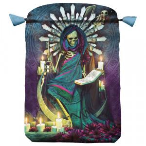Punga satin pentru carti de tarot Santa Muerte