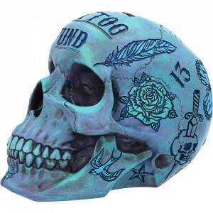 Pusculita craniu Tattoo Fund ( Albastru )
