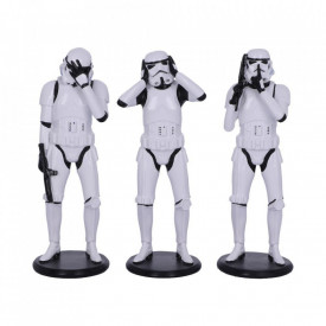 Set 3 statuete Star Wars Trei soldaţi Intergalactici intelepti -14 cm
