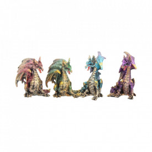Set 4 statuete Aripi pretioase 9.3 cm