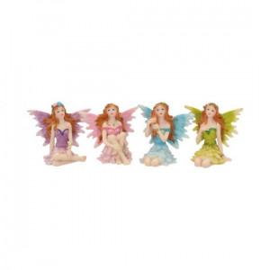 Set 4 statuete cu zane Prietenii padurii 7 cm