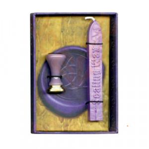 Set ritualic stampila si ceara pentru sigilii Triquetra