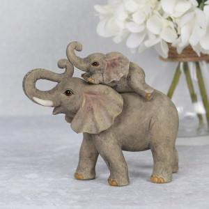 Set statuete Familia de Elefanti - mami si copil