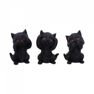 Set Trei pisicute intelepte 8.8cm