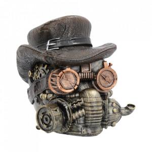 Statueta craniu steampunk Amenintare Mascata 16 cm