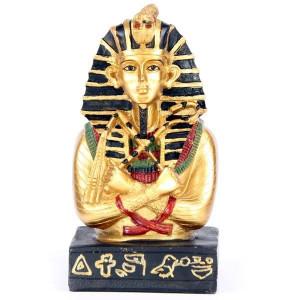 Statueta egipteana Tutankamon cu insemne regale 11 cm