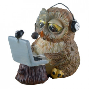 Statueta Funny Collection Bufnita Skype owl 8cm
